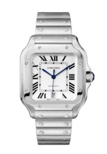 Santos de Cartier Stainless Steel Bracelet Watch
